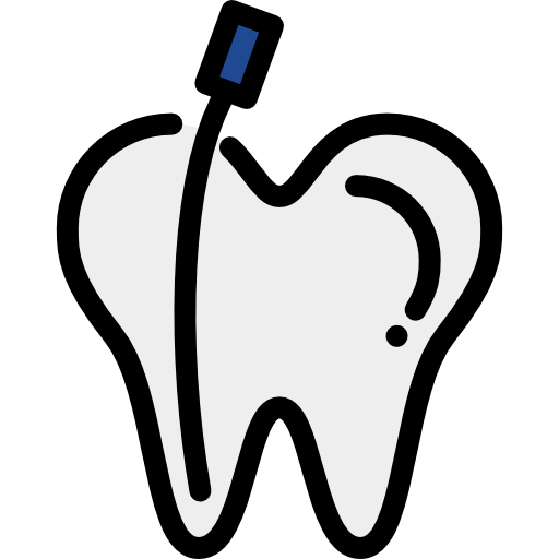 Endodontic file in a tooth